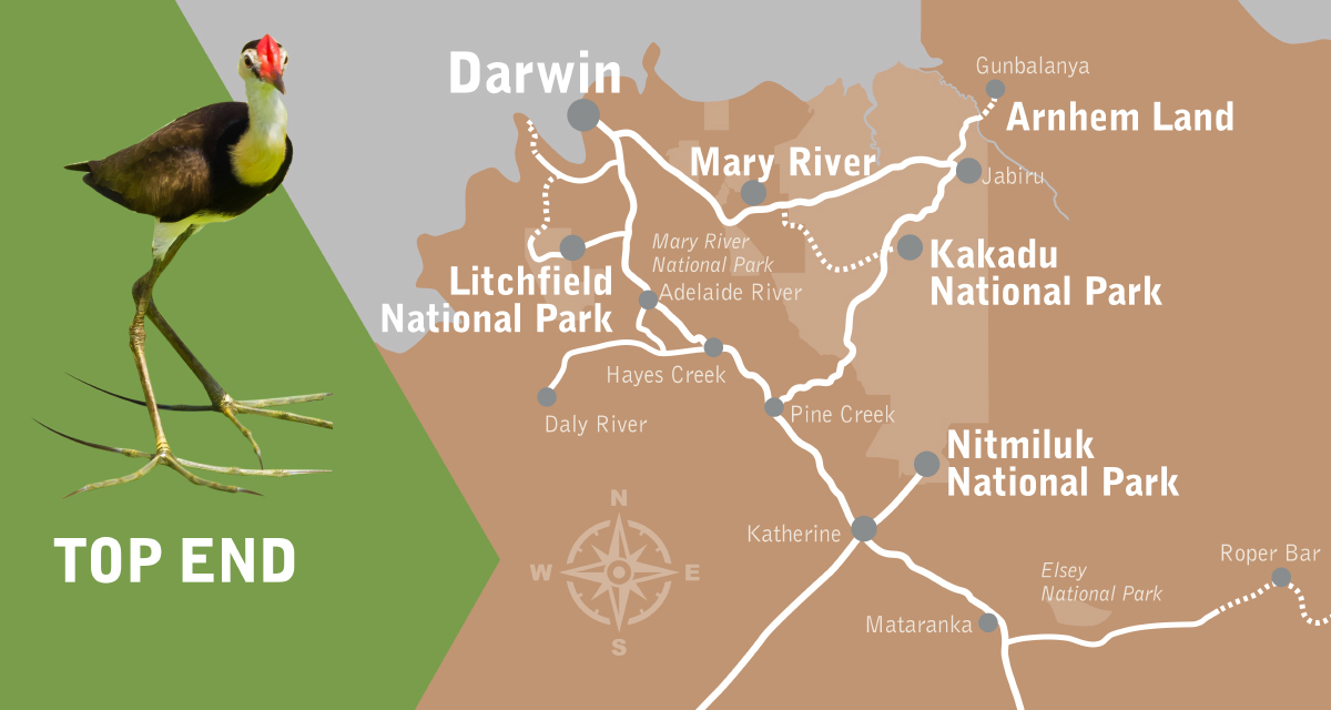 Suggested Itinerary – Top End Map